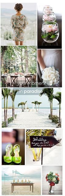 Tropical Wedding by Apartment #34, via Flickr