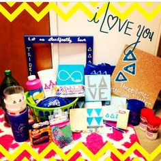 Big little crafting idea, except change it to Theta Phi Alpha