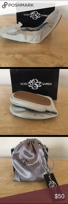 BRAND NEW!!! Yosi Samra soft ballet flat Buttery soft leather foldable ballet flats in a light mint color. BRAND NEW, Never Worn! Dust bag and box included. Yosi Samra Shoes Flats & Loafers