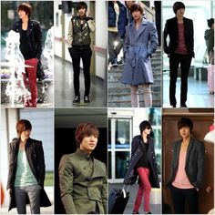 Lee Min Ho's fashion in City Hunter. It's a bit weird and youthful but if anyone can sell these looks, it's him. LMH is an untouchable trendsetter in korean fashion. All outfitted by Trugen. My brother has his proportions: future reference. Lee Min Ho Images, Classy Street Style, Jung Il Woo, Kim Sang, Park Min Young, City Hunter, Kim Woo Bin, New Gossip, Korean Star