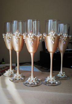 Flautas de boda por WeddingArtGallery en Etsy