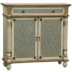 Hand-painted Distressed Cream and Gold Finish Accent Chest | Overstock.com Shopping - Great Deals on Coffee, Sofa  End Tables