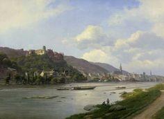Georg Emil Libert (1820-1908) - View of Heidelberg Castle on the Neckar, oil on canvas, 67 x 91 cm.