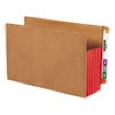 "Desk Supplies>Desk Set / Conference Room Set>Holders> Files & Letter holders: 5 1/4"" Exp File Pockets, Straight Tab, Legal, Red, 10/Box"