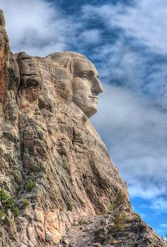 Profile View of Mount Rushmore National Monument