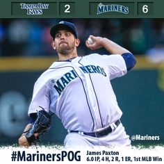 Paxton throws six strong in big league debut, Smoak and Morales go deep in 6-2 #Mariners win over #Rays 9/7/13