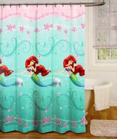 "Amazon.com - Disney The Little Mermaid Shower Curtain Beauty Beneath the Waves 70"" x 72"" -"