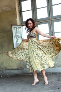 This batik dress would be fun to imitate!