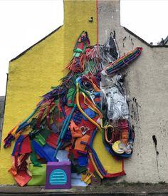 "B0rdalo II, ""Scottish Unicorn"" at Nuartaberdeen in Aberdeen, Scotland, UK, 2018"