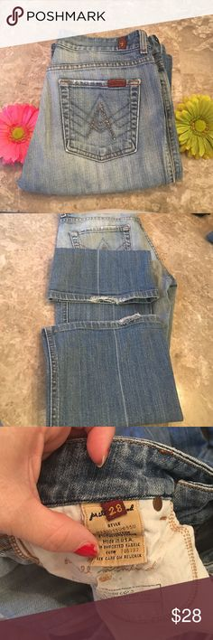 7 for all mankind jeans 7 for all mankind jeans used waist size 28 inseam 29 7 For All Mankind Jeans