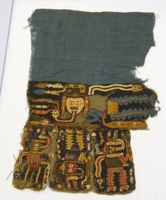 Brooklyn Museum: Arts of the Americas: Paracas Textile Fragment, Unascertainable or Mantle?, Fragment