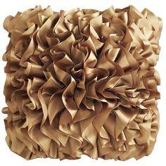 Bronze Flounce Pillow