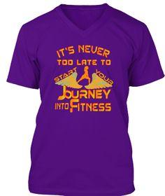 Best Fitness Tshirt Team Purple T-Shirt Front