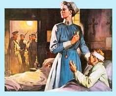War-time poster of Edith Cavell, a British nursing hero of WWI