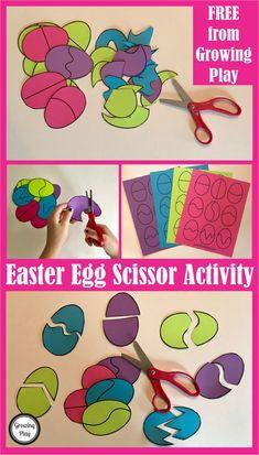 Easter Egg Scissor Activity FREE download