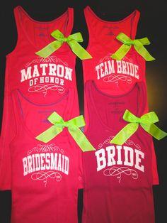DIY bridal party tanks @kristen Swanson