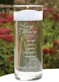 Loved ones are remembered with this personalized cylinder as a symbol of their life and love remembered.  #DBBridalStyle