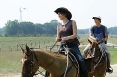 """When Maggie goes for a """"run"""" into town for supplies Rick suggests Glen accompany her."""