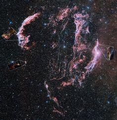 Veil Nebula Pierced by Hubble's Gaze