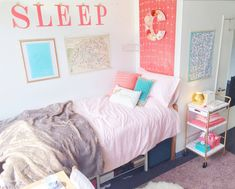 10 Stylish Dorm Room Ideas for Girls - Megan Morris College Bedding Sets, Dorm Bedding Sets, Twin Xl Bedding, Best Bedding Sets, Luxury Bedding Sets, Bedroom Sets, Bedroom Decor, Unique Bedding, Budget Bedroom