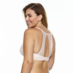 Paramour Women's Carolina Seamless Plunge Contour Bra with Lace T-Back -