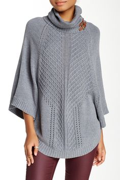 Cable Knit Poncho by Cullen on @nordstrom_rack