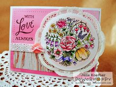 Springtime Love Stamp Set | Power Poppy by Marcella Hawley