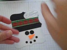 Stampin Up Top Note Snowman Gift Card Holder by craftincarol