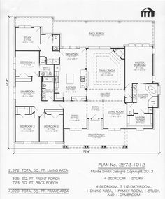 2972-1012 Monte Smith Designs House Plans