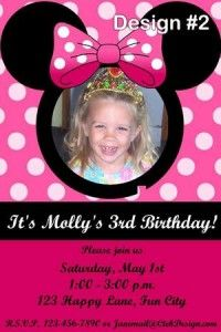 minnie invites for Avery