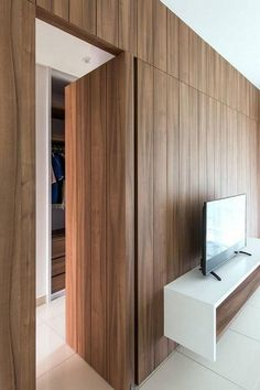 √top 40 best hidden door ideas – secret room entrance designs for your house page 6 Hidden Doors In Walls, Hidden Rooms, Home Design, Modern Door Design, Design Ideas, Home Engineering, Invisible Doors, Hidden Closet, Wardrobe Design Bedroom