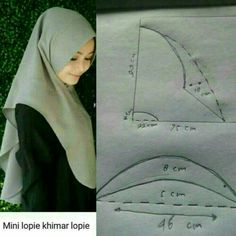 New dress pattern sewing women tutorials Ideas Abaya Pattern, New Dress Pattern, Dress Sewing Patterns, Pattern Sewing, Hijab Style Dress, Hijab Outfit, Techniques Couture, Sewing Techniques, Tudung Shawl
