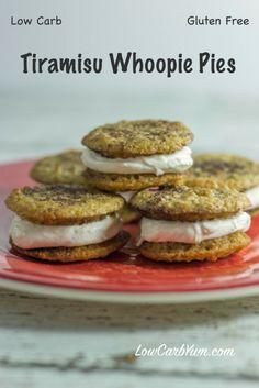 Tiramisu Whoopie Pies - Gluten Free | Low Carb Yum