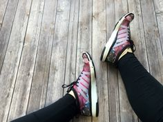 A girl can never have too many shoes in her closet! Switch up your #gymstyle by swapping your runners for something new! With a fun swirl of colour, they're sure to go with any look! #shoeaholic | www.platosclosetbarrhaven.com