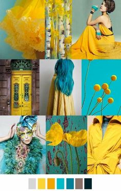 Colour palette/ Yellows and Blue / Colour inspiration/ Colour combinations