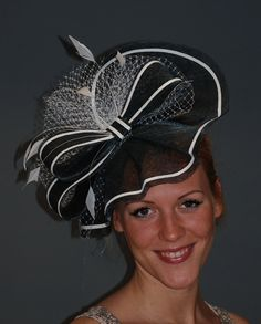Fascinator Hat Navy Blue for Derby Ascot weddings by MargeIilane