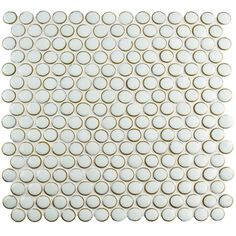 "EliteTile Penny 0.8"" x 0.8"" Porcelain Mosaic Tile in Silk White & Reviews 