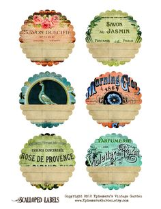 FREE PRINTABLE : Shabby Chic Scalloped Labels