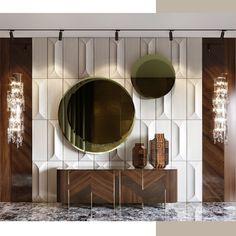Foyer Design, Lobby Design, Home Room Design, Home Interior Design, Living Room Designs, Luxury Home Decor, Luxury Interior, Luxury Furniture, Modern Interior