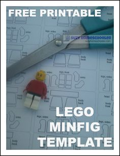 How to make a custom LEGO minfig (free printable included) from Suzy Homeschooler (2)