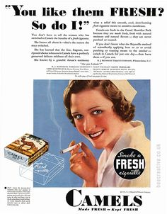 Doctors. Dentists, Scientists all approved smoking way back in the day, So why not a nurse?