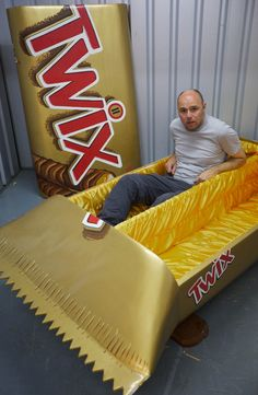 Karl Pilkington commissions Twix-shaped coffin in The Moaning of Life. One side's for Suzanne!