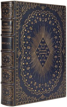 With Illustrations by Charles Bennett and a Preface by the Rev Charles Kingsley. Longman Green Longman and Roberts. Understanding Dreams, The Pilgrim's Progress, John Bunyan, The Rev, Book Illustrations, Bookbinding, Book Covers, Dark Blue, Appreciation