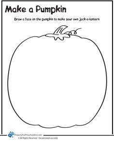 make a pumpkin coloring page