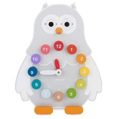 Janod Owly Time-Telling Clock