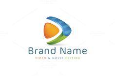 For sale. Only $29  #media #video #film #sharp #music #arrow #forward #editing #play #triangle #cut #scissors #razor #snip #clapboard #edit #audio #movie #animation #visual #abstract #logo #design #template