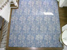 Custom wool zebra pattern