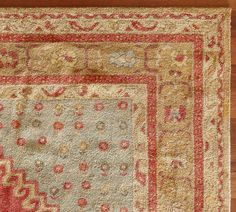 We are proud to offer our artisan-made rugs - each is hand-tufted and washed for heft, beautiful luster and subtle color.  In the ancient tradition of Persian prayer rugs, our Bindu rug has an asymmetrical, architectural design, framed by intricate guard bands. Its overtwisted yarns make the sheared pile especially plush. Click here for recommended care.