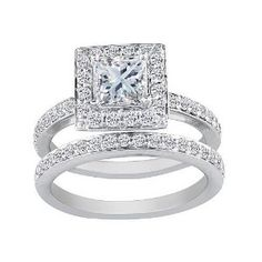 Princess Cut Engagement Rings | Princess Cut Diamond Engagement Rings:Princess Cut 1ct Diamond Bridal ...