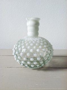 Vintage Fenton Glass . Hobnail Vase . Perfume by ohcomelyvintage